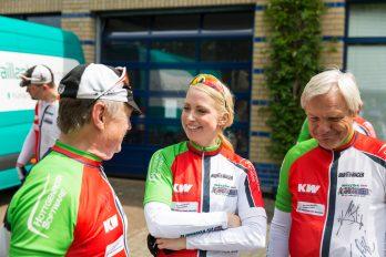 War für eine Etappe dabei, um die Glücksradler zu unterstützen: Jennifer Binz