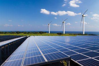 Photovoltaik und Windräder