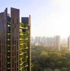 Das Gebäude spiegelt seine grüne Umgebung wider. ©Hufton+Crow
