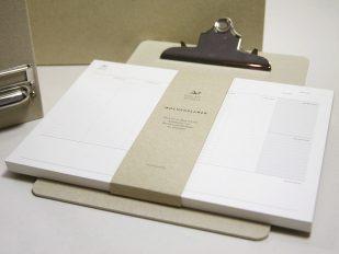 Wochenplaner aus CO2-neutral hergestelltem Recyclingpapier