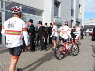 Begrüßung Radfahrer