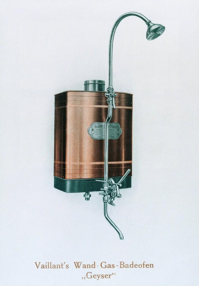 Vaillant Gas-Badeofen als wandhängendes Gerät