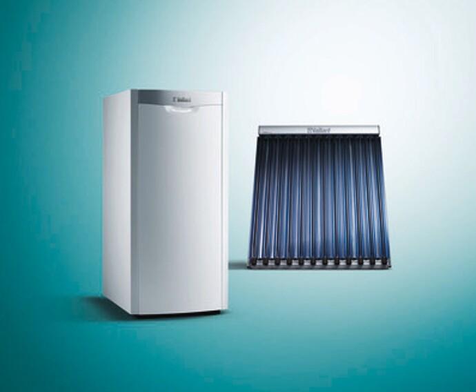 Die Ölbrennwertheizung icoVIT arbeitet als Hybridheizung mit unserer aroTHERM Wärmepumpe oder den auroTHERM Solarkollektoren zusammen