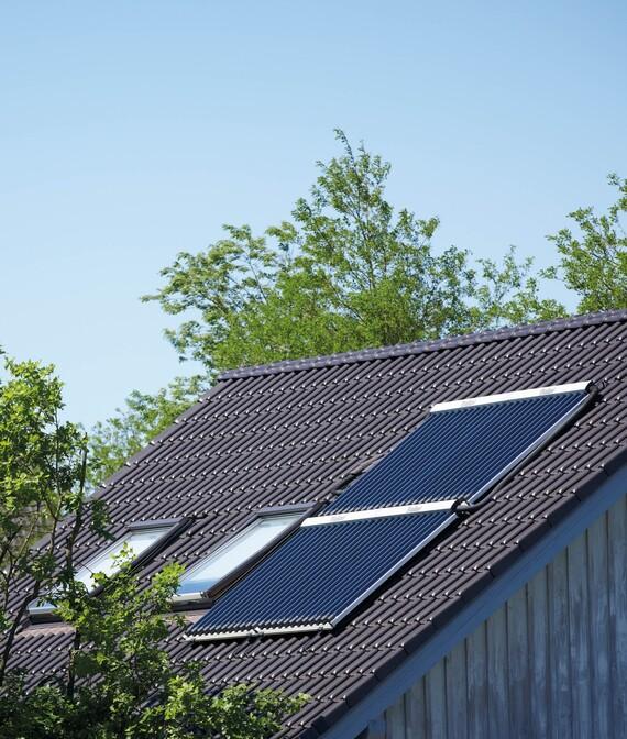 Solar-Röhrenkollektor von Vaillant
