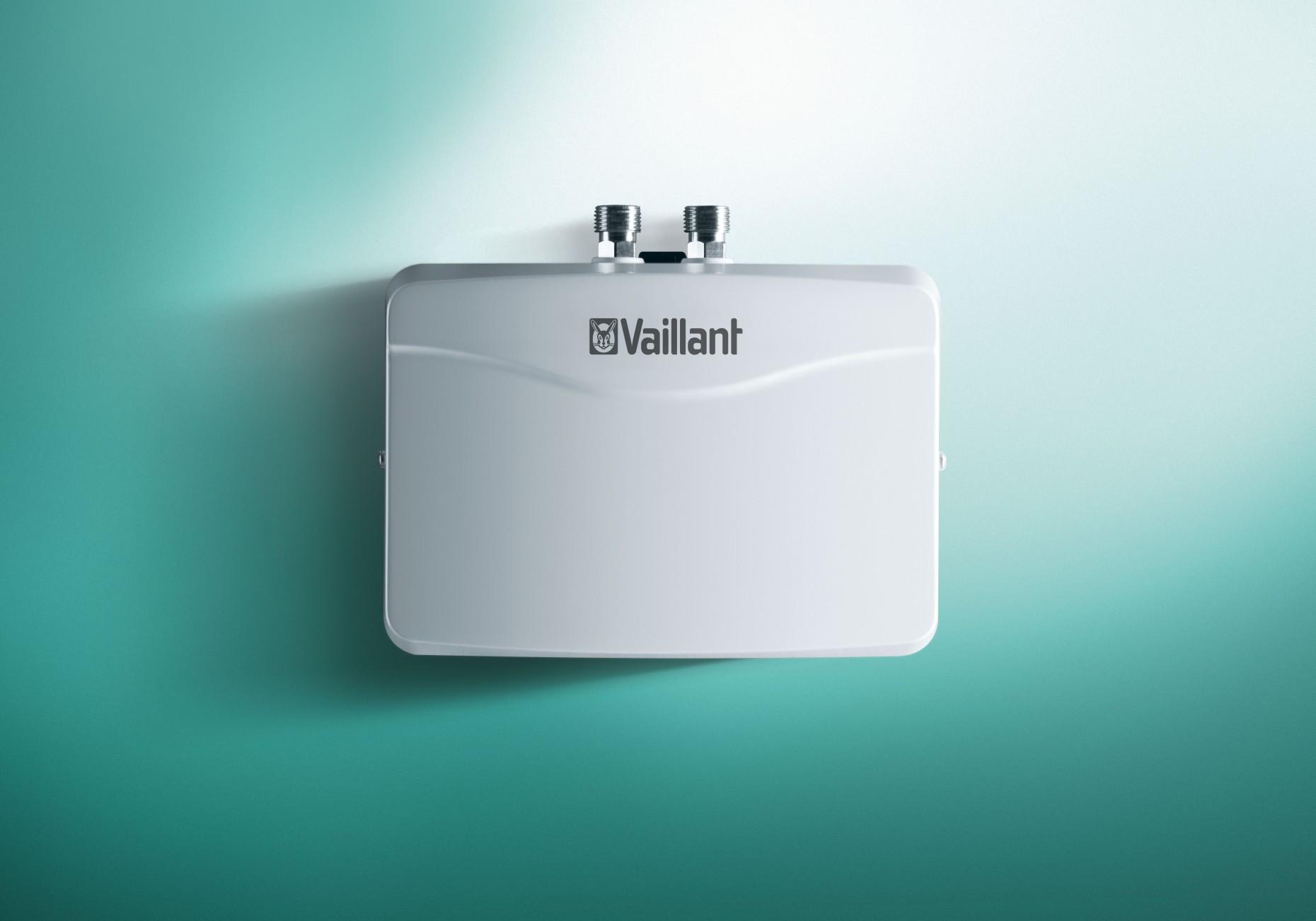 Schnell Und Sparsam U2014 Unbegrenzt Lange Warmes Wasser Am Einzelwaschtisch.  Hydraulisch Gesteuerter Durchlauferhitzer VED