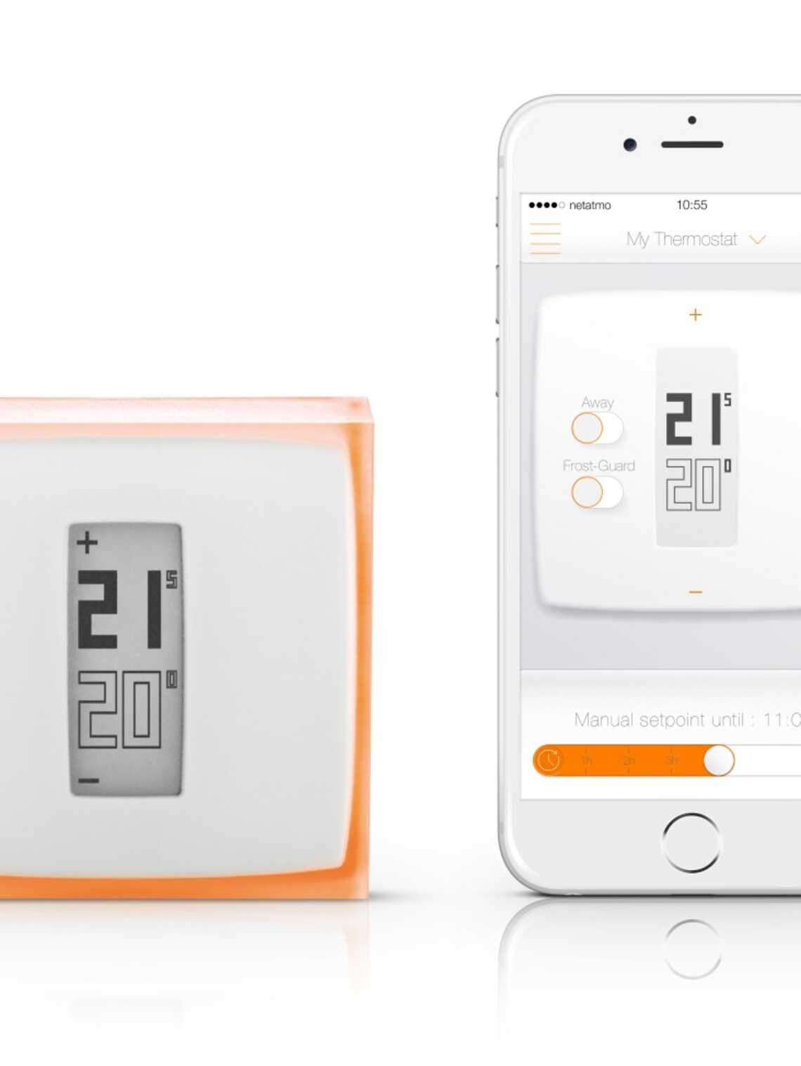 thermostat netatmo by starck vaillant. Black Bedroom Furniture Sets. Home Design Ideas