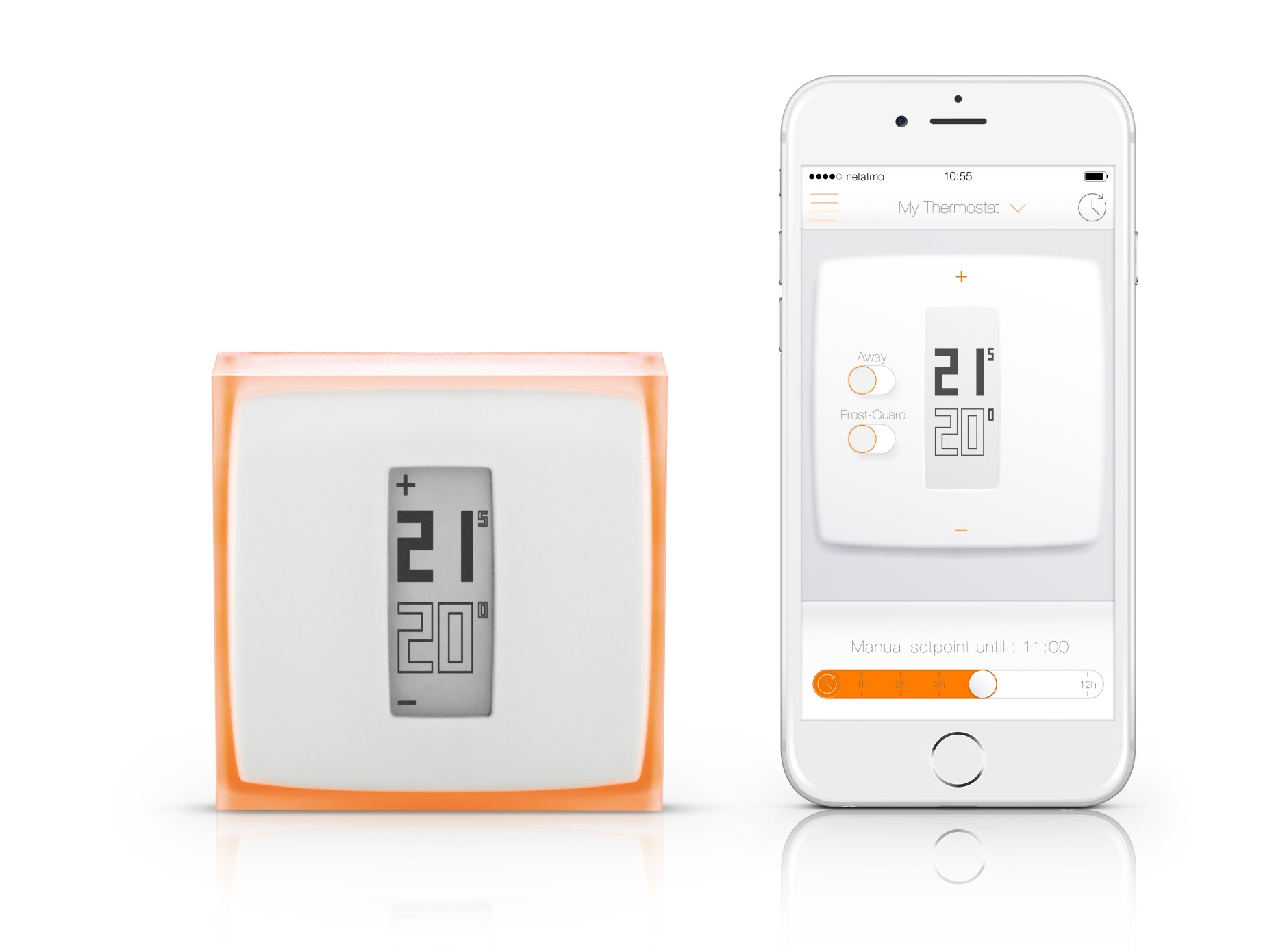 thermostat netatmo by starck produktinformation vaillant. Black Bedroom Furniture Sets. Home Design Ideas
