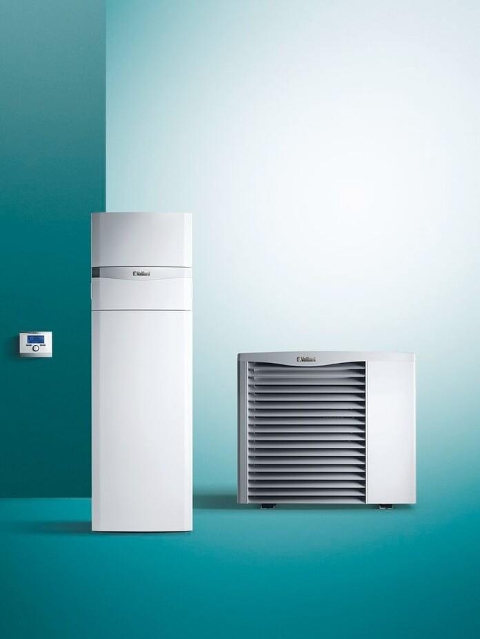 Die Luft/Wasser-Wärmepumpe aroTHERM und der zugehörige uniTOWER