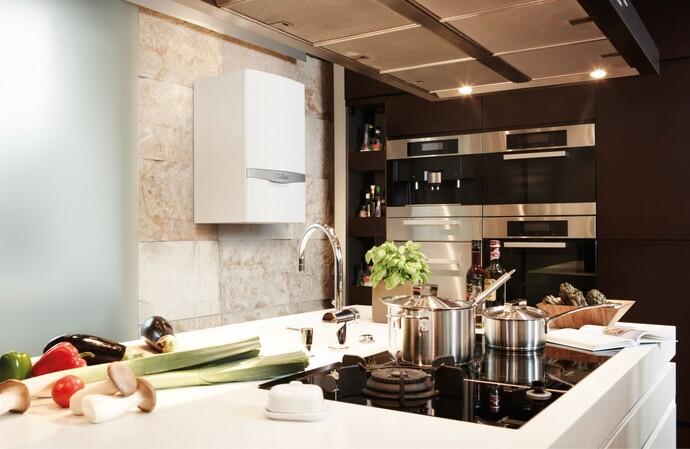 Das Gas-Brennwertgerät ecoTEC plus kann als Etagenheizung eingesetzt werden und eignet sich für Ein- und Mehrfamilienhäuser.