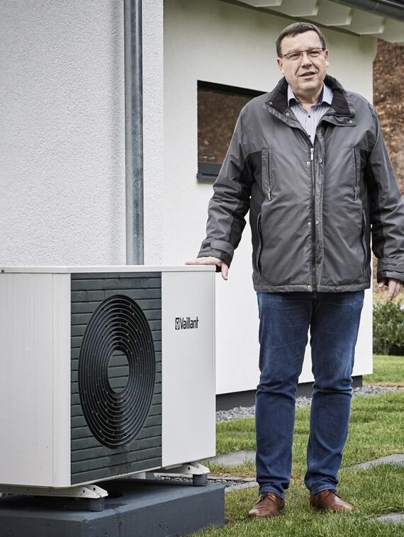 """""""Der Geräuschpegel der Außeneinheit ist gerade in Neubaugebieten entscheidend"""", so Nordhaus-Berater Rolf Blum: """"Diese Anlage hört man selbst unter Volllast schon in einem Meter Entfernung nicht mehr!"""""""