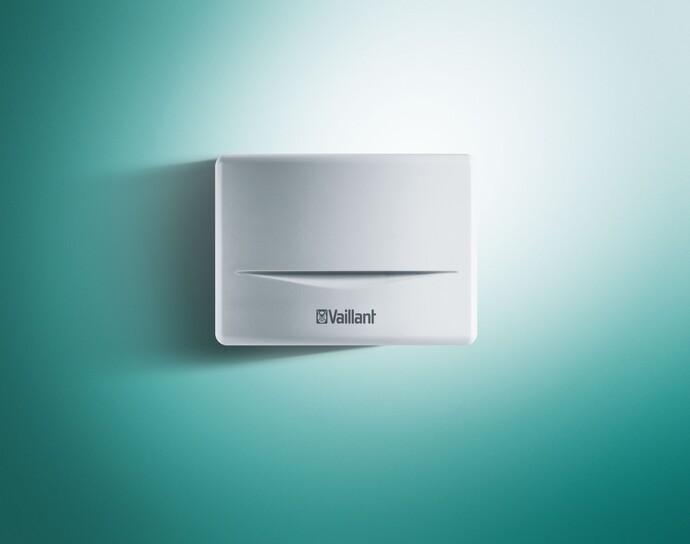 Der Außentemperaturfühler für die Vaillant multiMATIC 700 lässt sich unauffällig an der Hauswand anbringen.