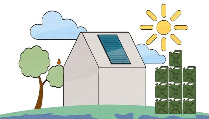 Erfahren Sie in 60 Sekunden, wie Sonnenenergie nicht nur Kosten für Warmwasser und Wohnwärme reduzieren kann, sondern auch Emissionen. Jetzt Video starten!