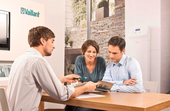 Innenansicht eines Vaillant Kundenforums. Lassen Sie sich individuell beraten!