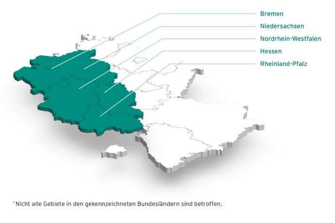 Bundesländer der Marktraumumstellung